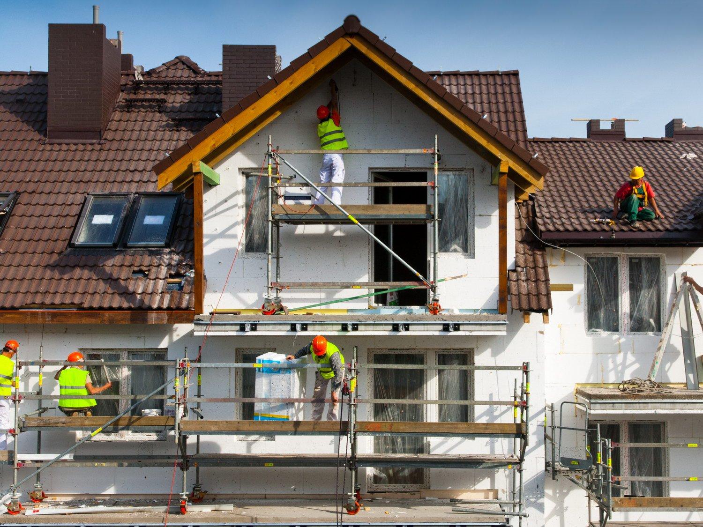 ремонт фасада по мокрому