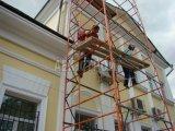 Покраска фасада здания вторым слоем