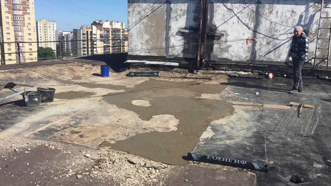 ремонт бетонного основания кровли