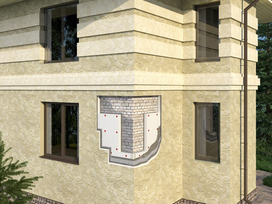 штукатурка фасада час того дома