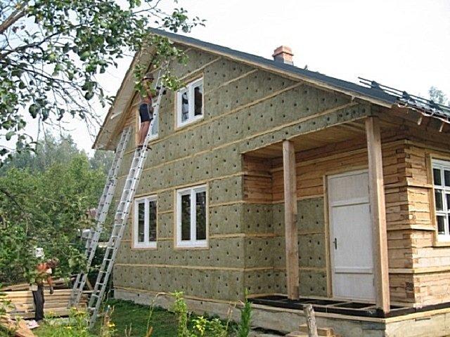 утепление деревянного фасада