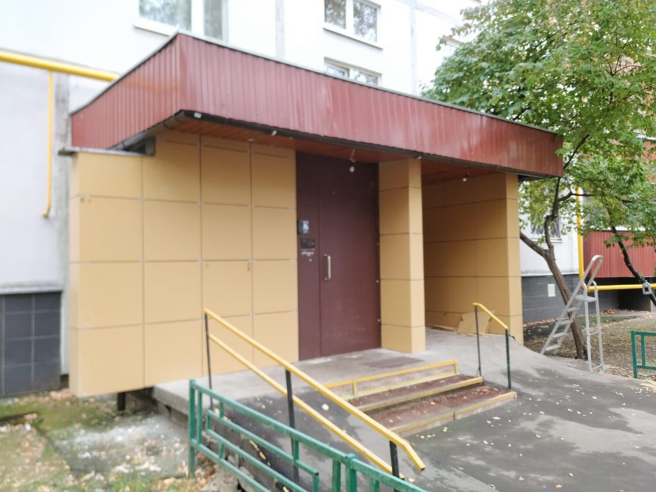 монтаж навесного фасада