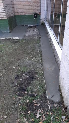 ремонт бетонной отмостки
