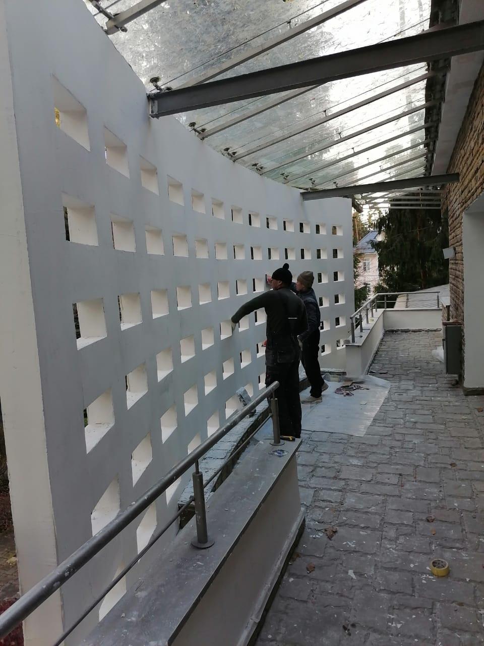 текущий ремонт фасада